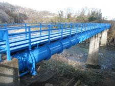茂庭配水幹線-人来田水管橋塗装替修繕工事