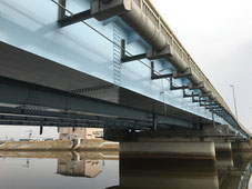 定川橋外橋梁耐震補強工事に係る現場塗装工