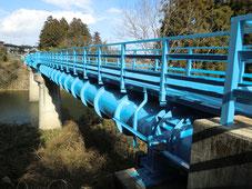 茂庭配水幹線-栗木水管橋塗装替工事