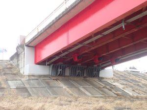 感恩橋橋梁耐震補強工事 に係る現場塗装工写真1