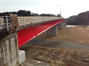 感恩橋橋梁耐震補強工事 に係る現場塗装工2